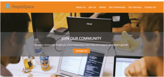 This is an image of Peoplespace's well designed website.