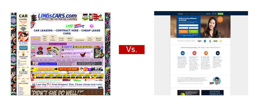 clean-vs-cluttered-landing-pages