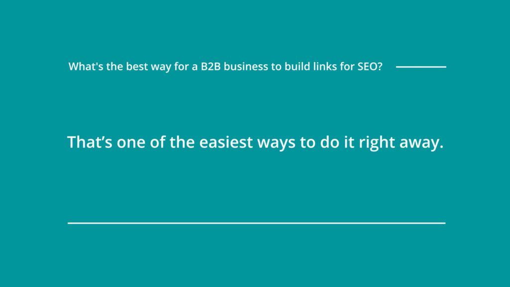 to build links