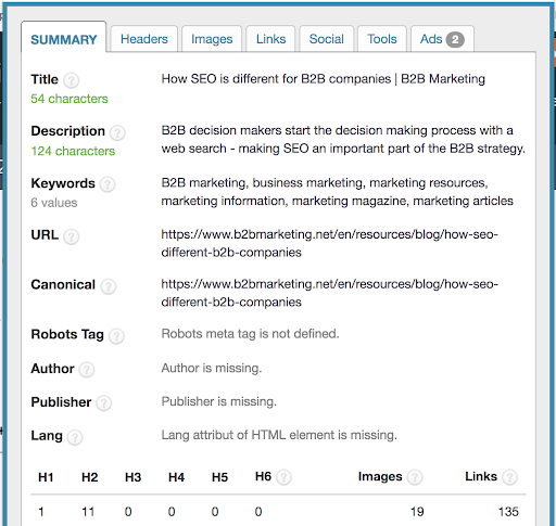 Target keyword included in metadata but not in a direct way.