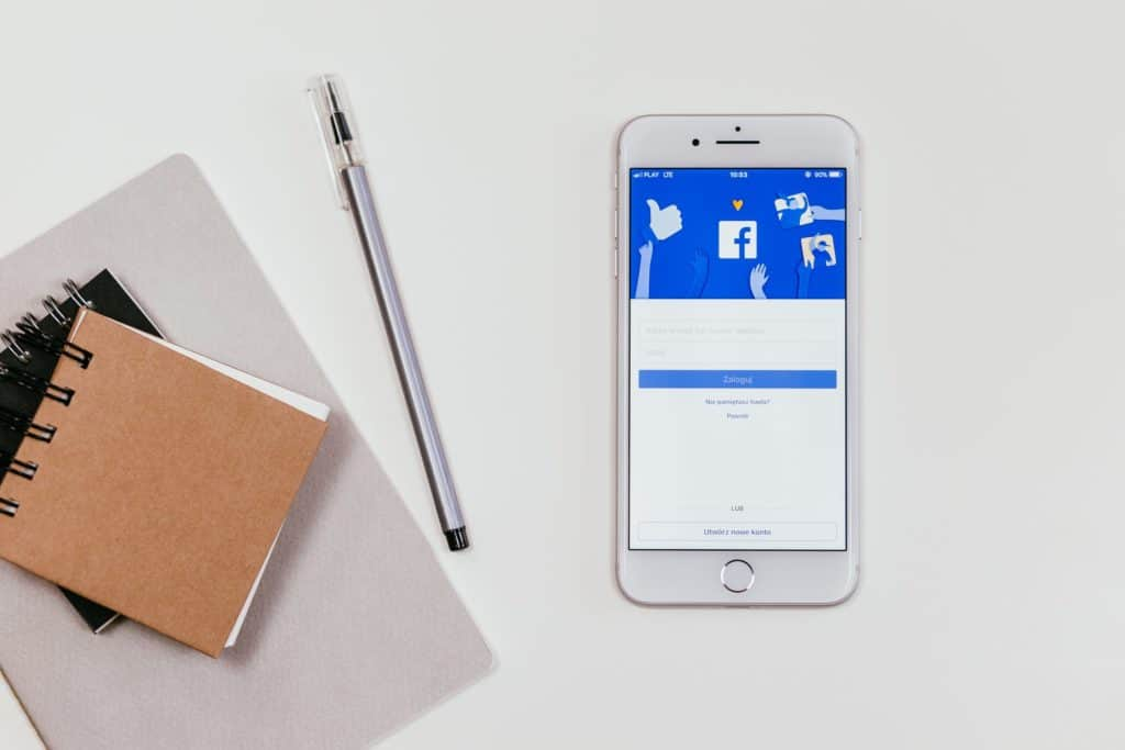 Image of Facebook on screen and how to use it in B2B social media marketing.