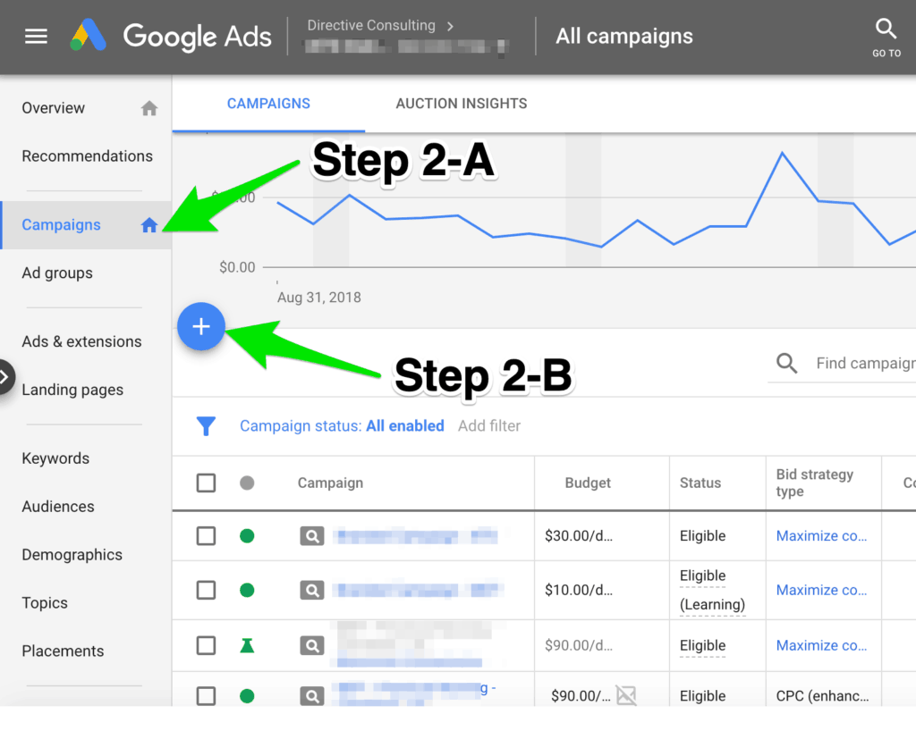 Step 2 to increase conversion rate in a remarketing campaign.