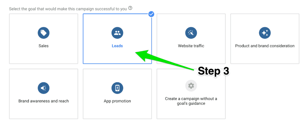 Step 3-A to increase conversion rate in a remarketing campaign.