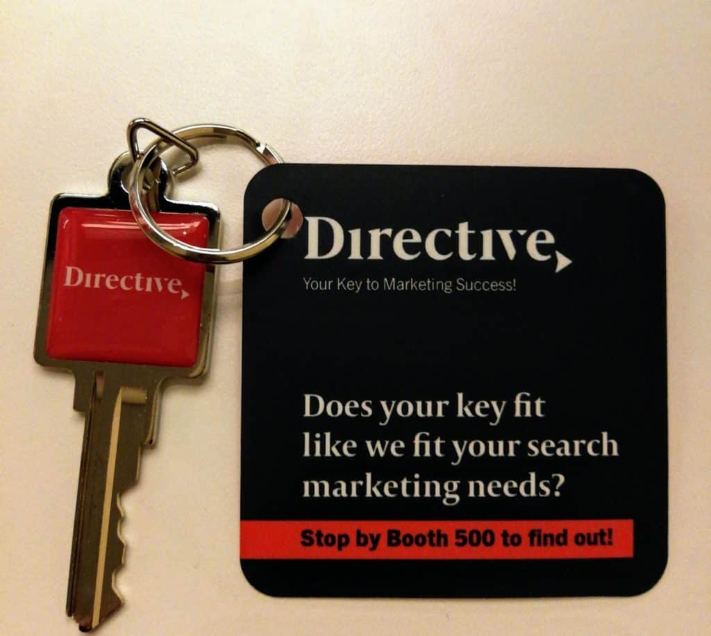 Image of tactic that Directive used for account-based marketing at a trade show.