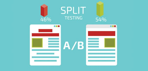Split testing two different version of a webpage