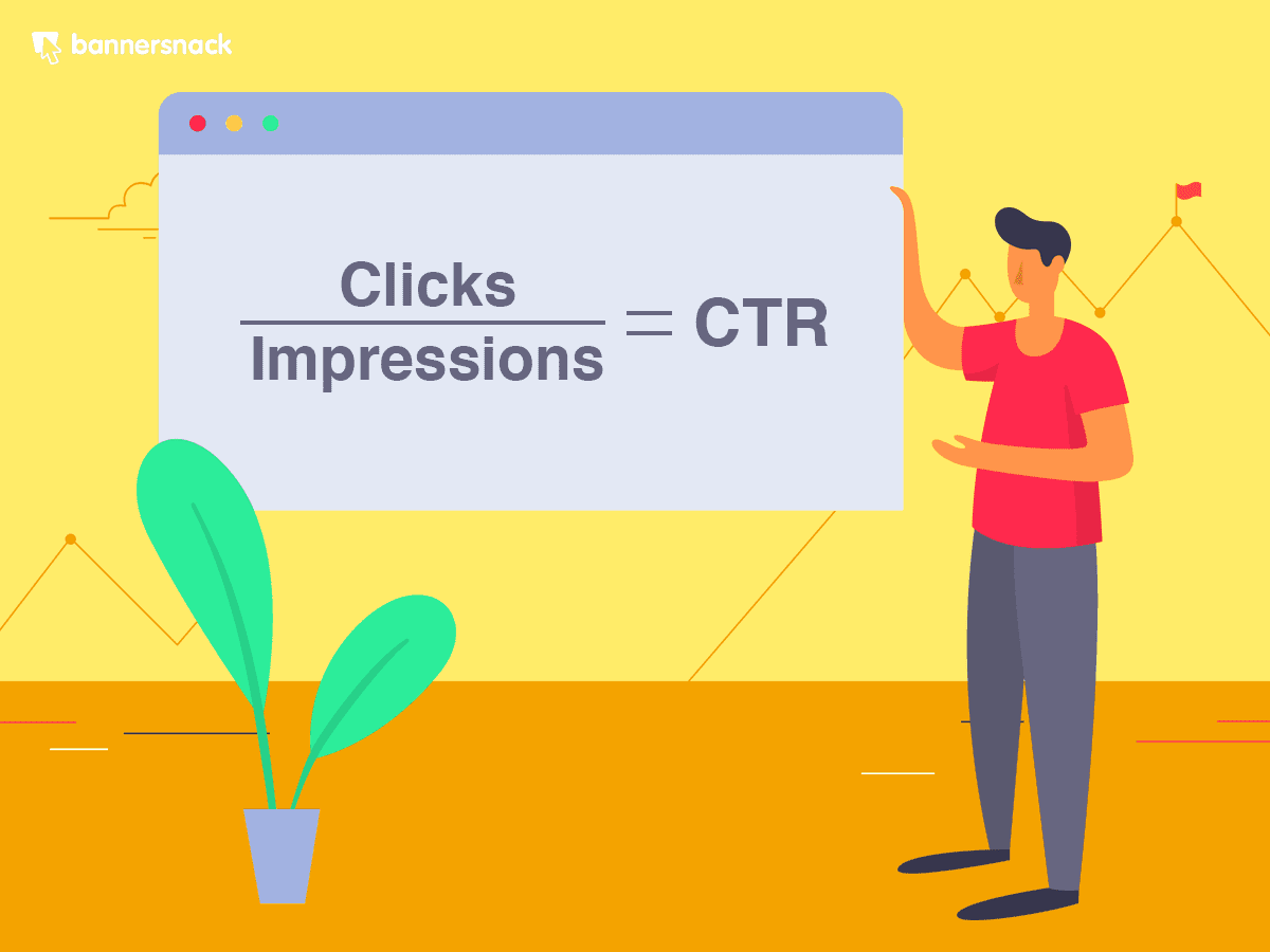 The calculation for click through rate.
