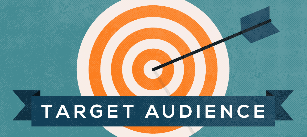 A bullseye with the term target audience across it.