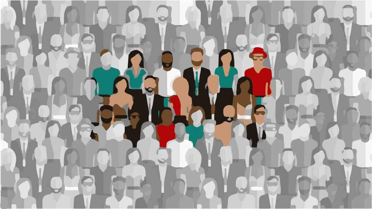 Reaching your target audience can be difficult like picking a face out of a crowd.