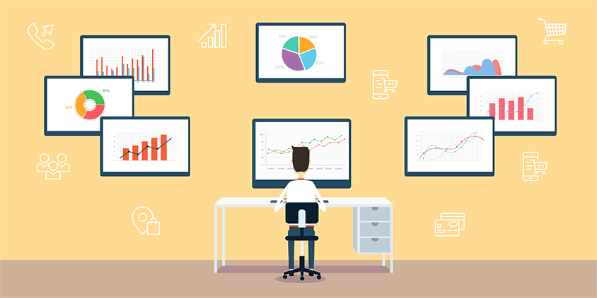 Analyzing charts and data is a part of marketing analytics