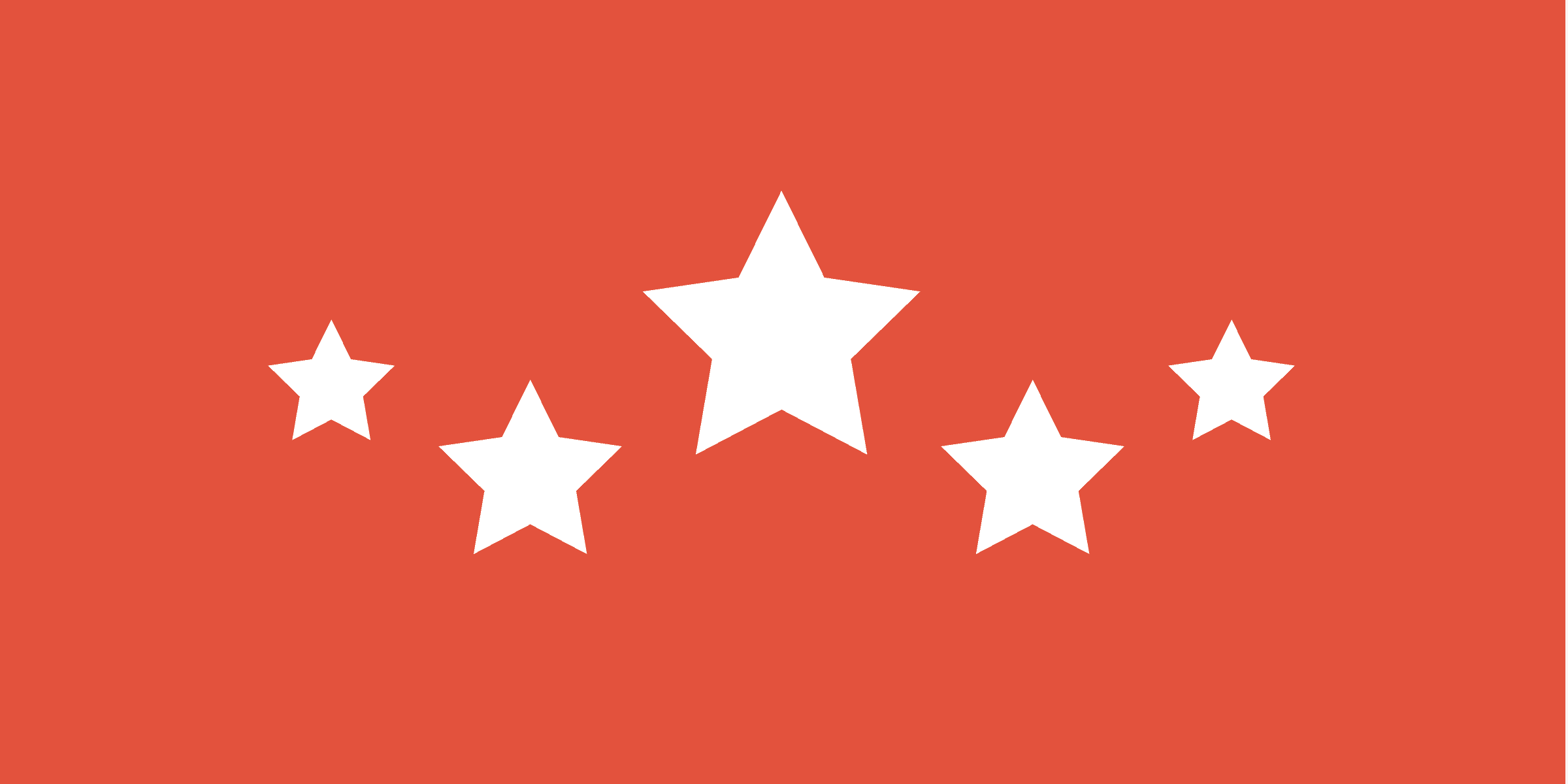 Graphic representing the five stars of SEO reputation management.