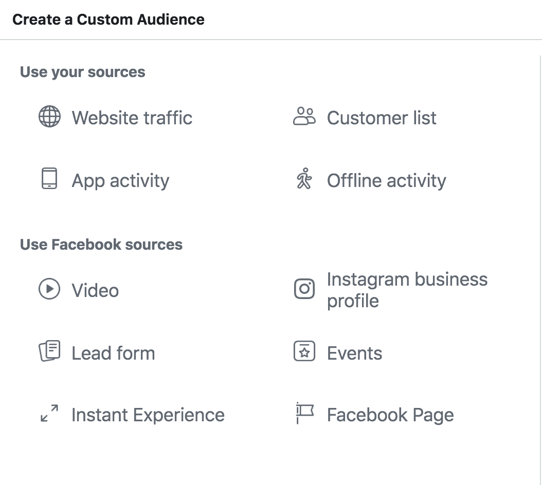 An example of how to create a custom audience.