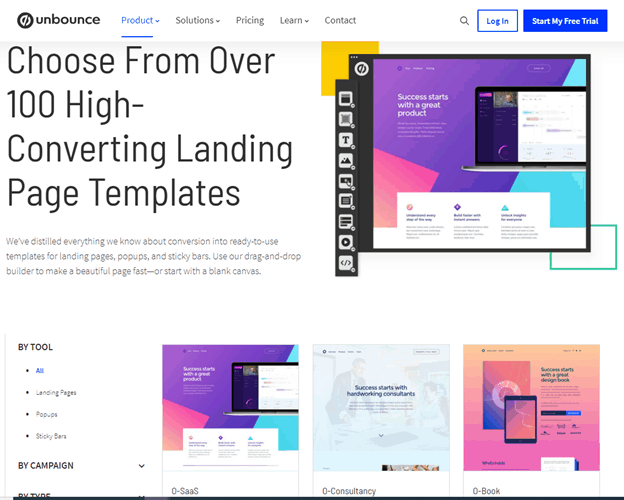 unbounce template example