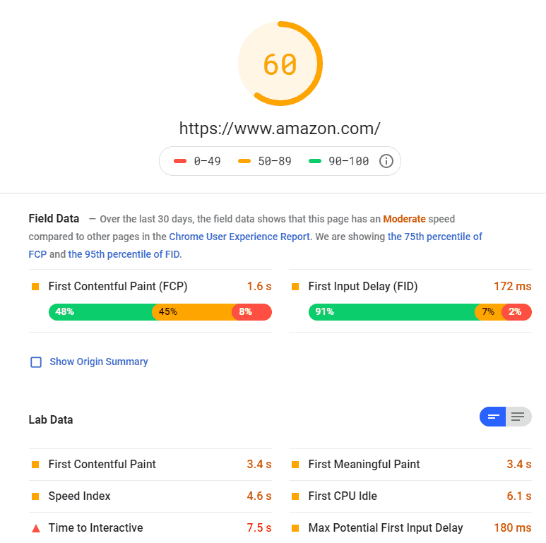 google page speed insights tool