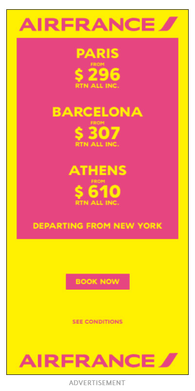display ad example airline