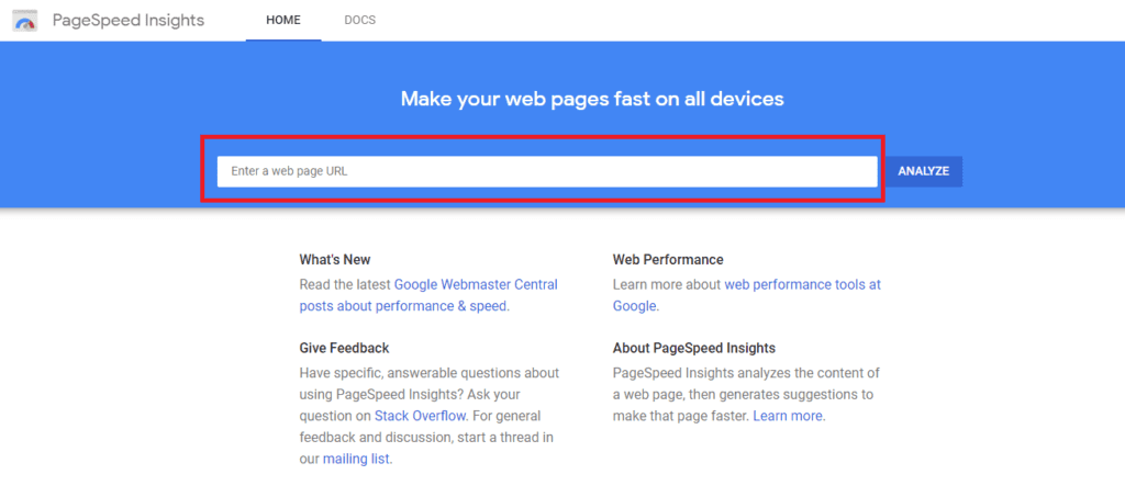 google page speed on page seo factor