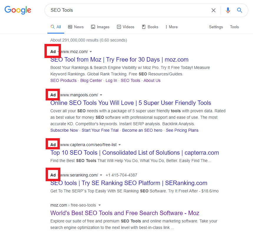 paid search ad icon