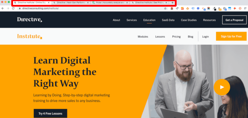 seo page title in browser