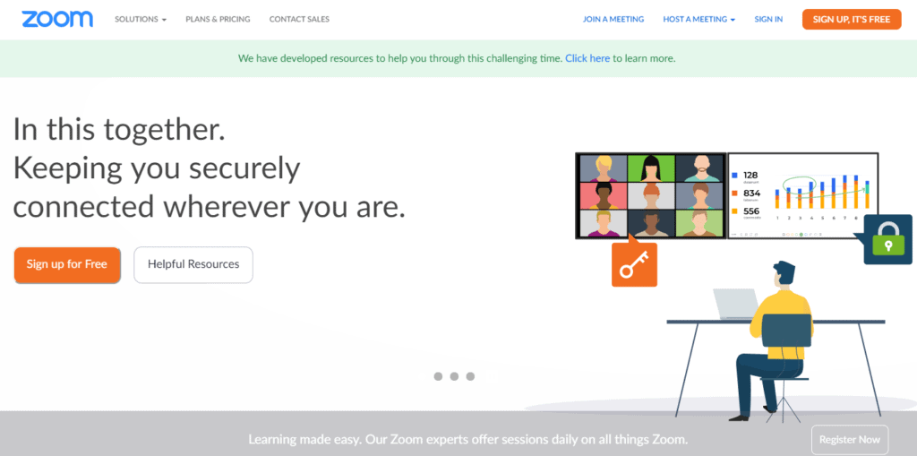 zoom free sign up example