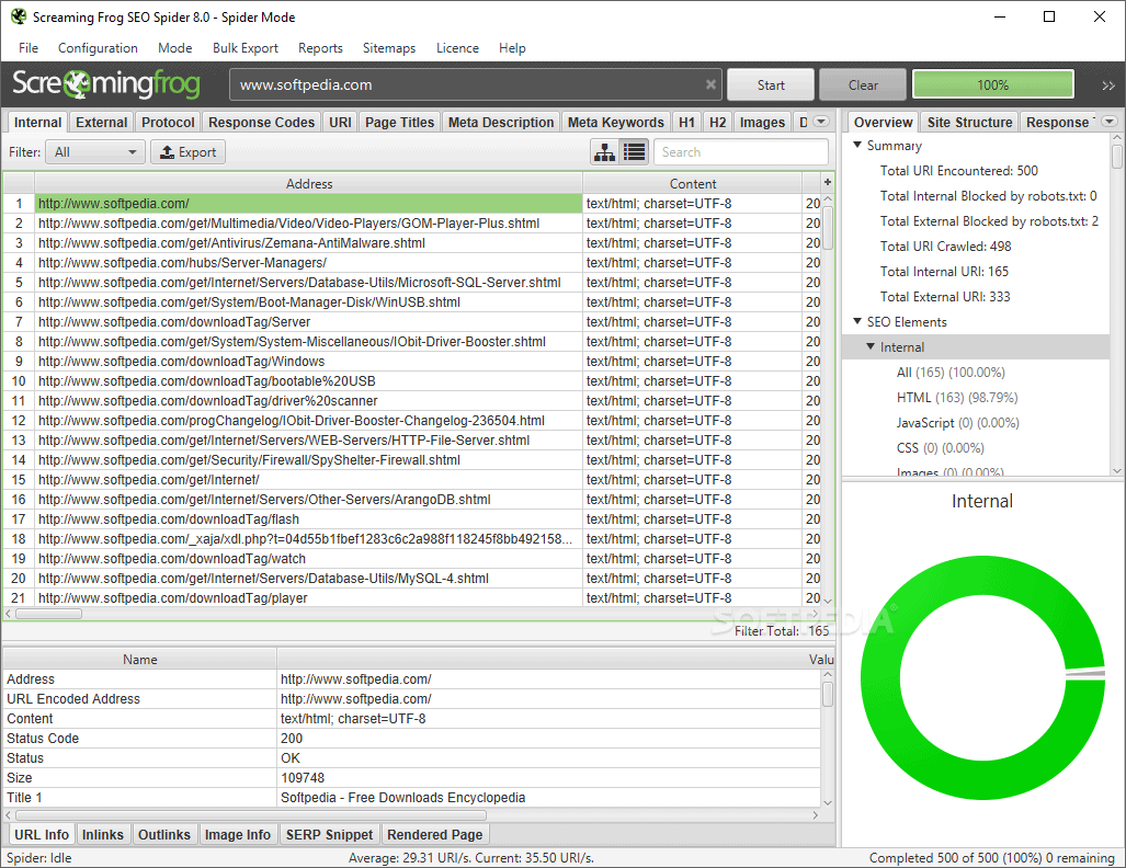 SEO Spider tool by Screaming Frog