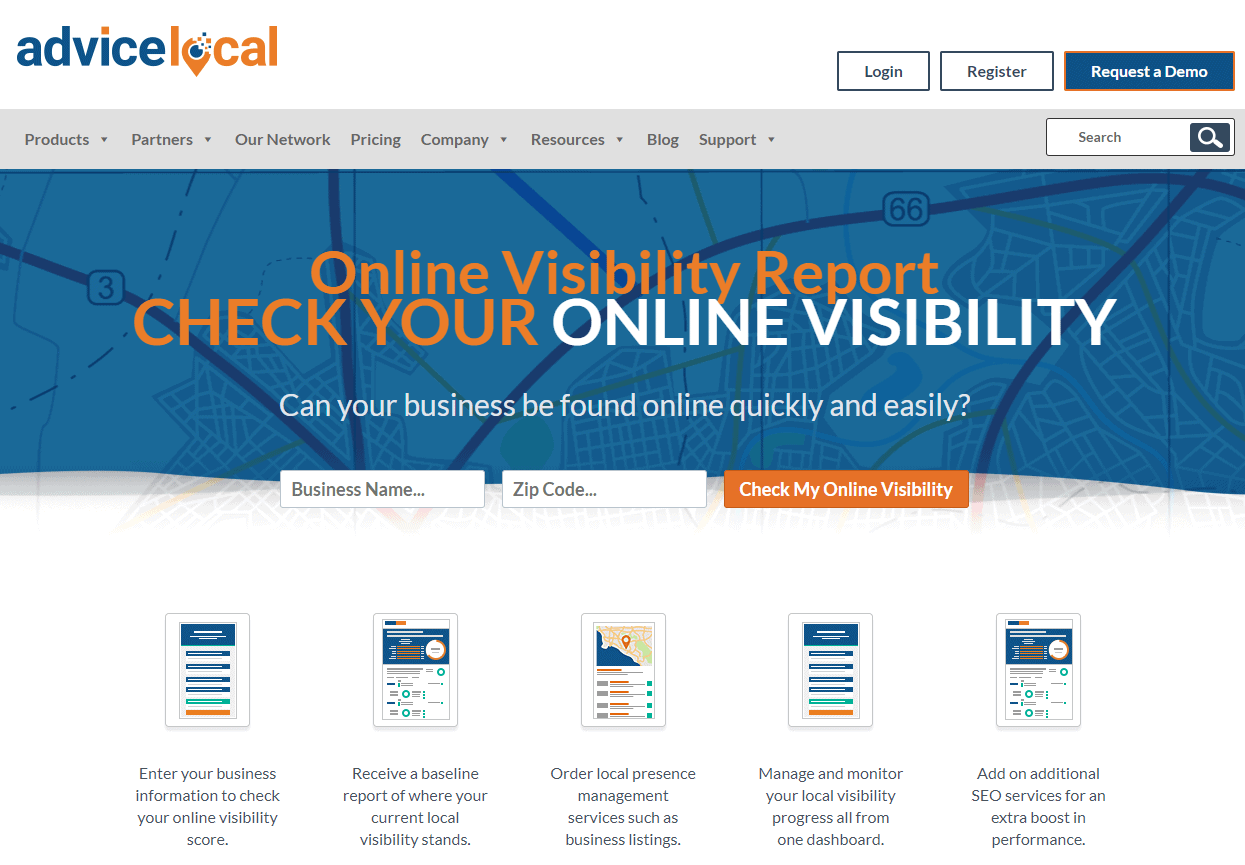 advice local seo software page
