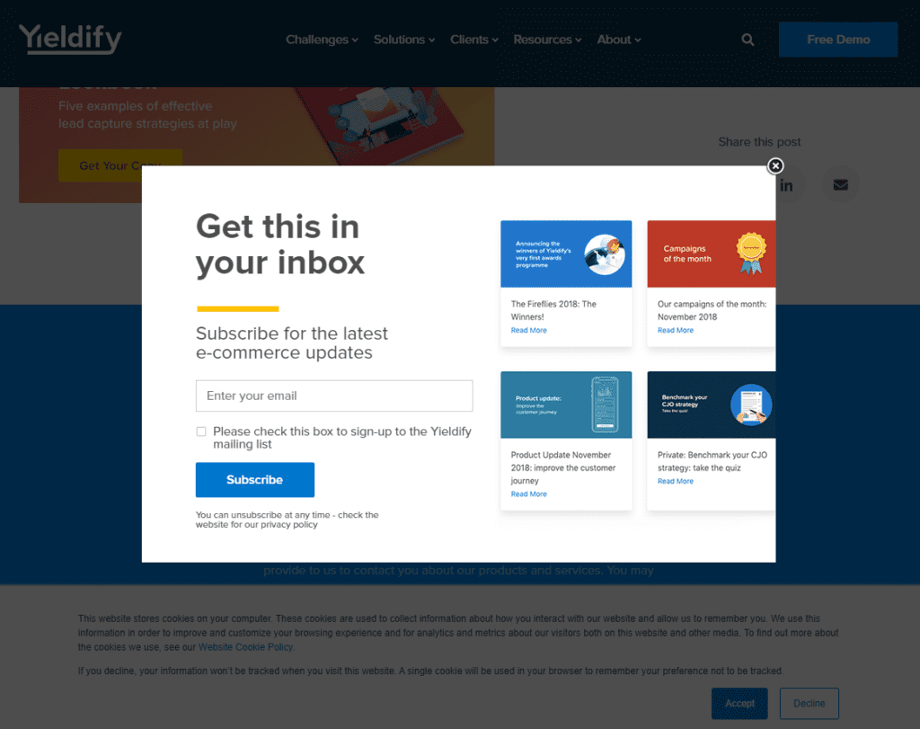 lead form content preview example