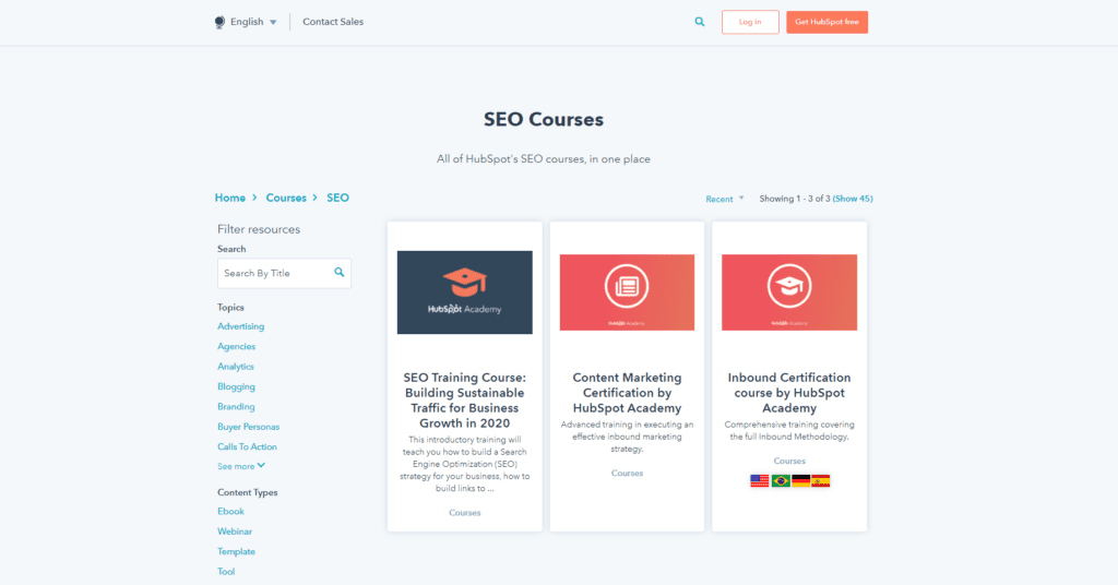 hubspot seo certification